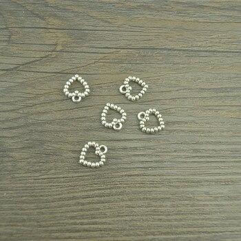 35 Uds vintage plata plateada del Tíbet corazón encantos colgantes de metal para fabricación de joyería DIY hecho a mano artesanía 14*12mm 4120C