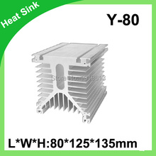New Aluminum Heat Sink For Solid State Relay SSR Small Type Heat Dissipation Y-80 shape 80*125*135mm