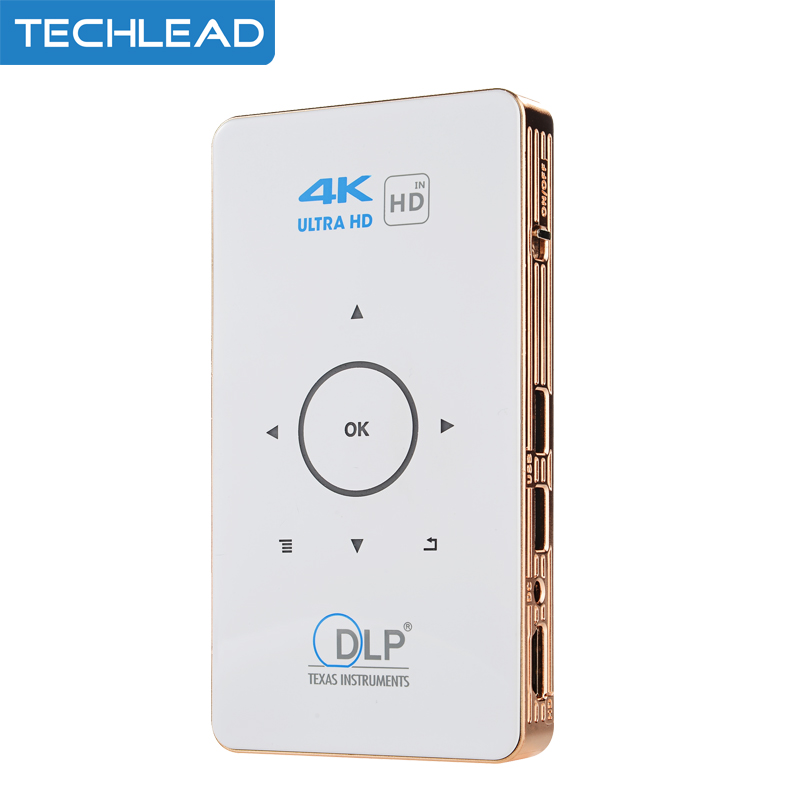 C6 Portable Mini 4K DLP Projector Android Quad Core 2GB 16G Dual band 5G WIFI Media player Bluetooth Mini Home Theater Proyector portable media player