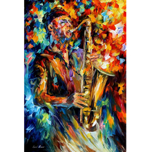 Hand Painted Landscape Abstract The Soul Of The Saxophone Knife Modern Oil Painting Canvas Art Living Room hallway Artwork Fine