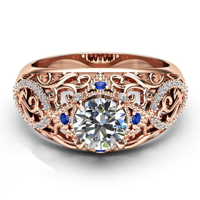 brixini.com - Luxury Noble Rose Gold Rings