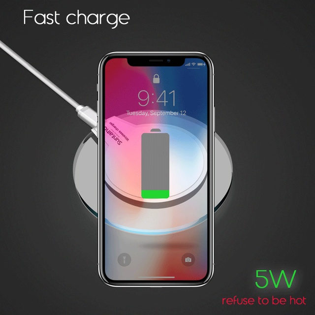 Qi Wireless Charger for Samsung Galaxy S9 S8 Plus Suntaiho Fashion Charging Dock Cradle Charger for iphone XS MAX XR 8Plus phone 4