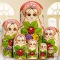 7 pçs/set Matryoshka Dolls 20 CM de Altura De Madeira Do Assentamento Do Russo de Matryoshka Babushka Bonecas Crianças Brinquedos Educativos Boneca Matryoshka