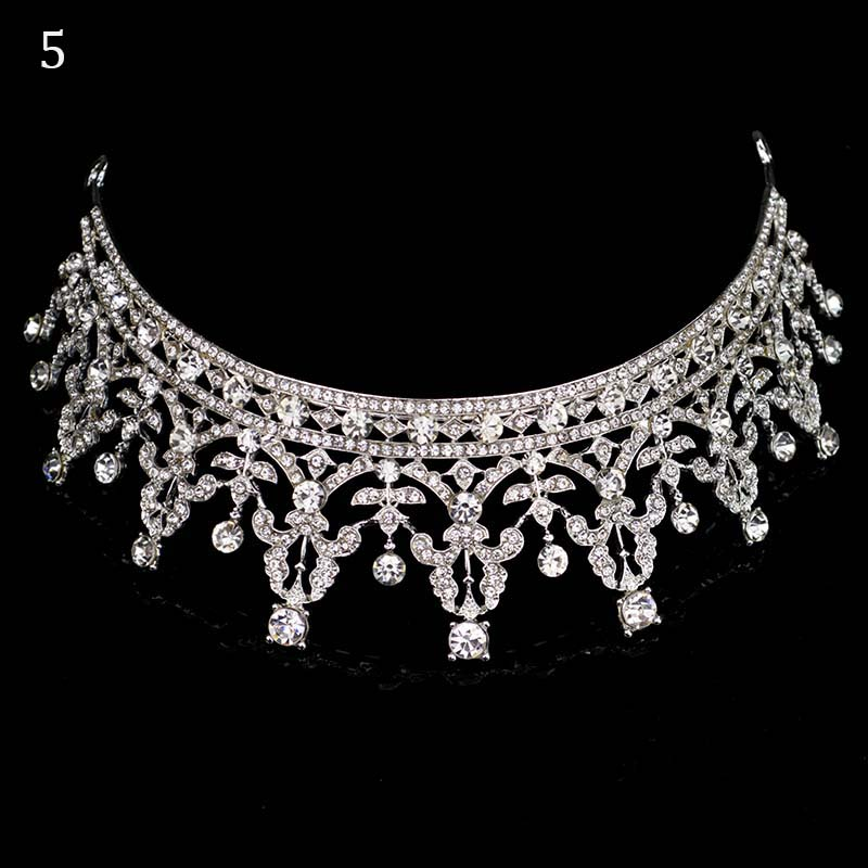 New Diverse Silver Crystal Bride Crowns Fashion Pearl Queen Wedding Headdress Headpiece Wedding Hair Jewelry hiar Accessories