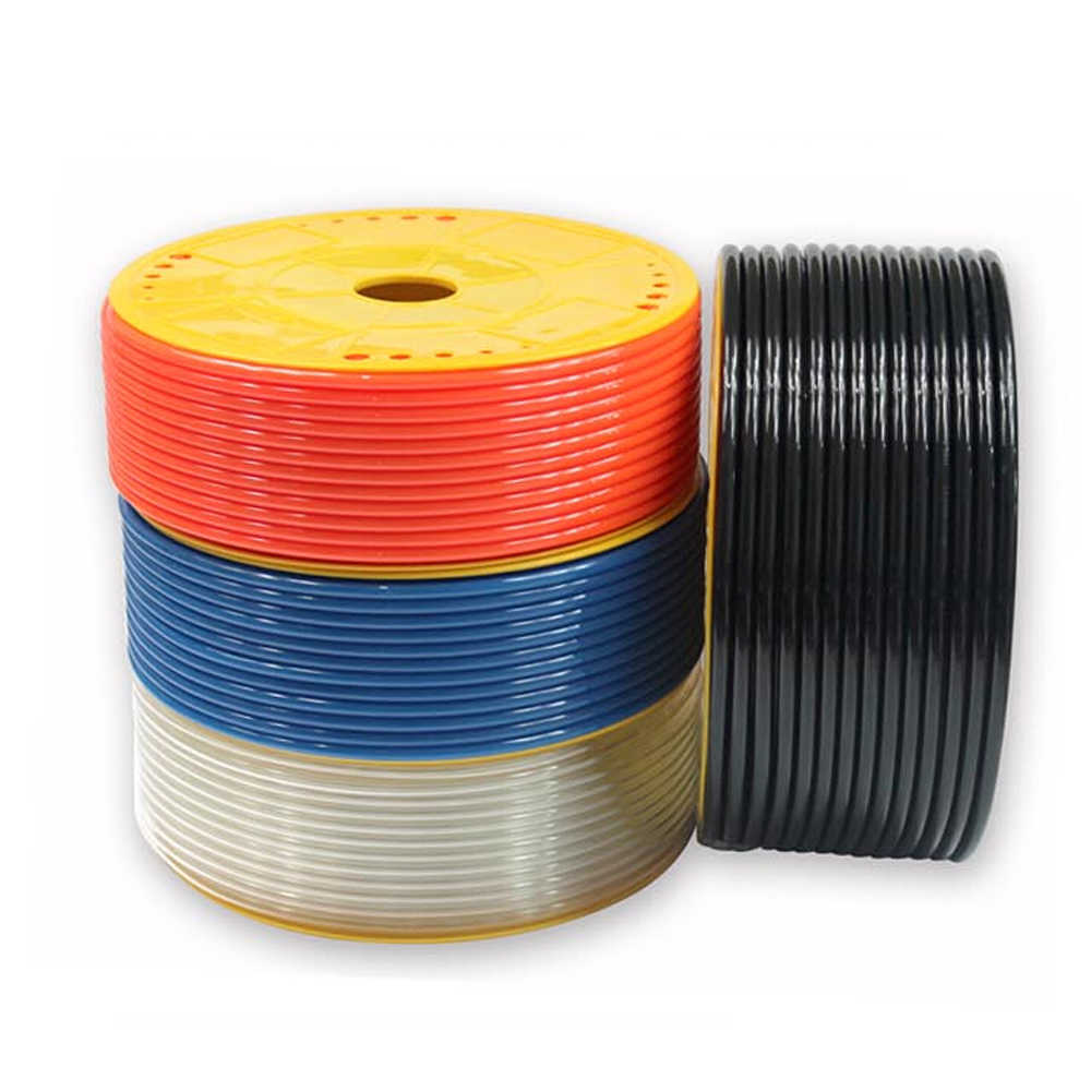1 meter PU Material Air Tubing Pneumatic Pipe Tube Hose 4mm 6mm 8mm 10mm 12mm OD Transparent Blue Red Black