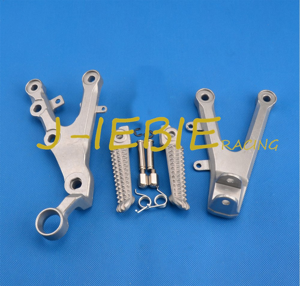 Front rider Foot pegs Brackets For Yamaha YZF R6 2006 2016