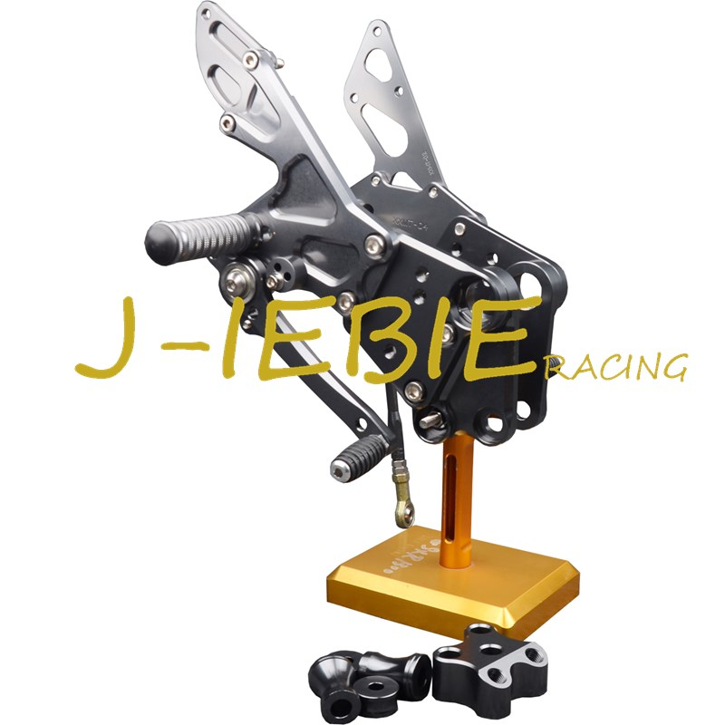 CNC Racing Rearset Adjustable Rear Sets Foot pegs Fit For KTM DUKE 125 200 390 2012 2013 2014 2015 2016 TITAINUM for 2012 2015 ktm 125 200 390 duke motorcycle rear passenger seat cover cowl 11 12 13 14 15