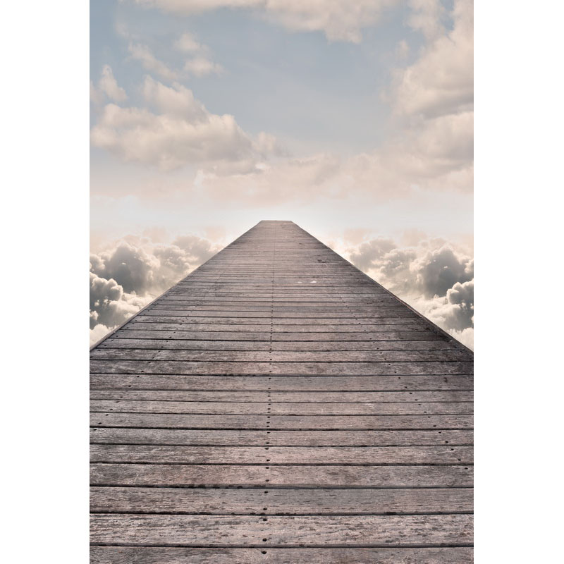Seamless Vinyl Photography Backdrop Road In the Sky Clouds Computer Printed Children Backgrounds for Photo Studio F-3154
