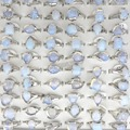 Natural opala pedra anéis moda jóias feminino anel Bague 50 pcs frete grátis