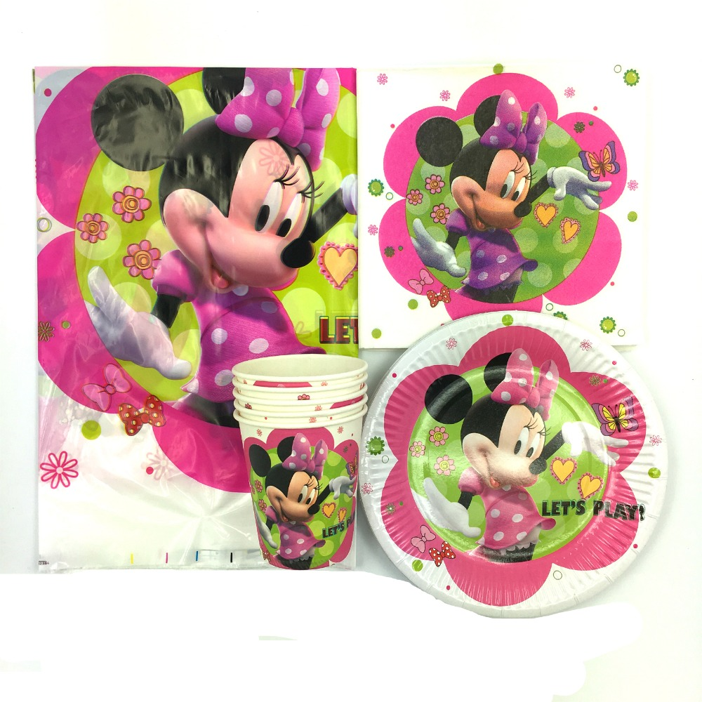 62pcs cartoon Minnie Mickey mouse 20pcs napkin+20pcs cup+20pcs ...