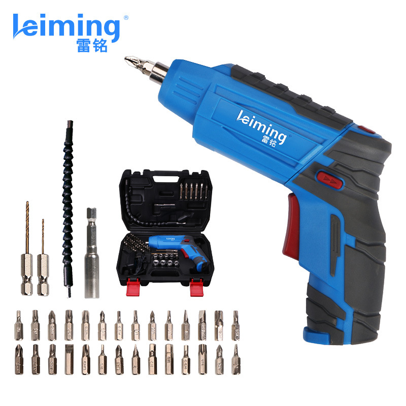 цена на Mini Electric Screwdriver Rechargeable Machine 4.2v Lithium Battery Of Small Household Drill With 32 bits