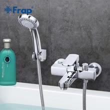 Frap จัดส่งฟรีสไตล์โมเดิร์น Bath และ Shower ก๊อกน้ำร้อนเย็นน้ำเดียวจับ Crane F3273