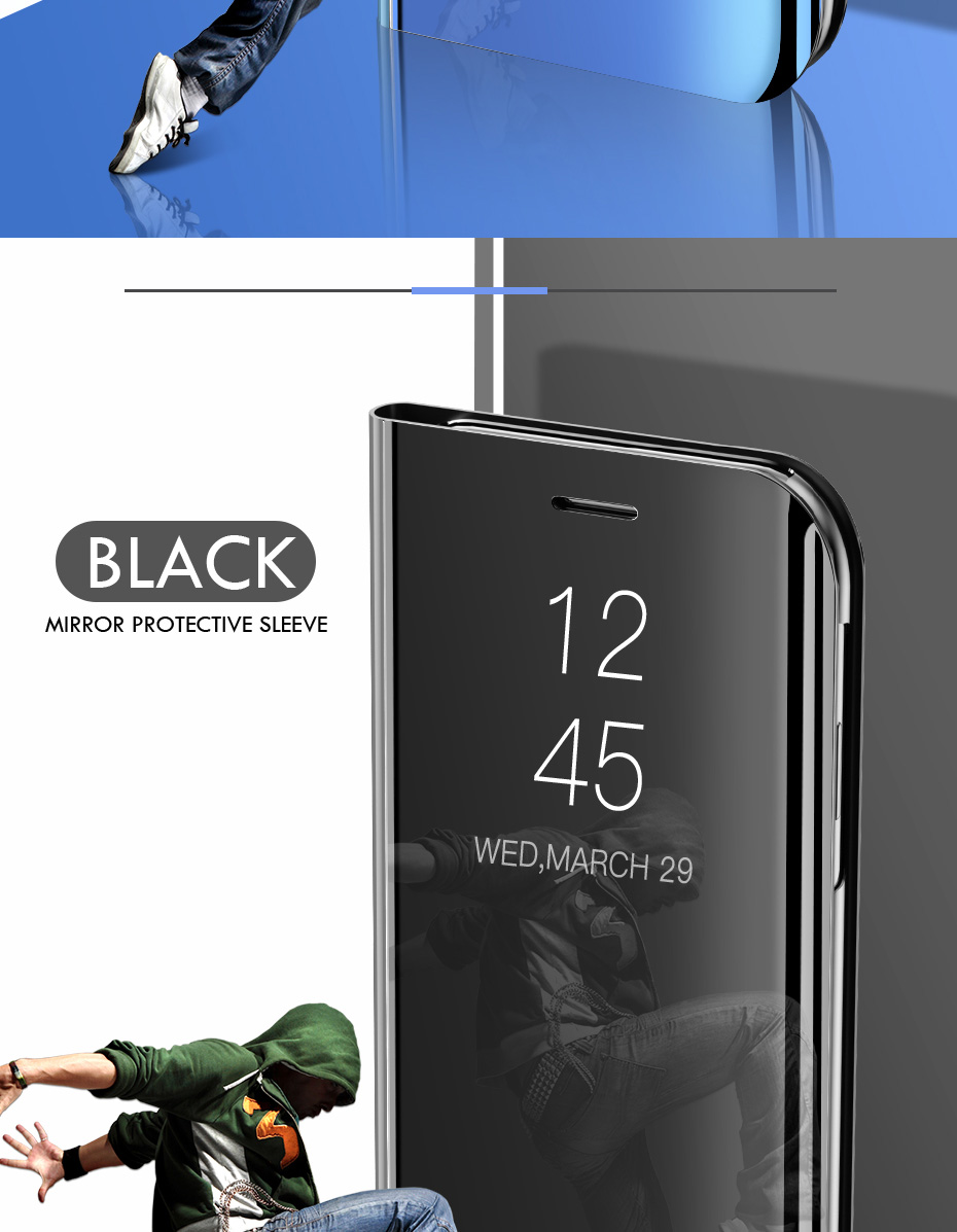 Smart Mirror Phone Case For Samsung Galaxy S10 S9 S8 Plus S10E A6 A8 A7 17