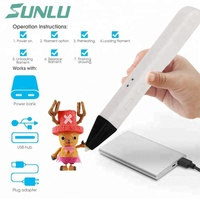 new free ship 3d pen Sunlu best DIY gift hot sell 3D printing pen SL 600 With USB interface Supports PLA/PCL in Fashional Desgin