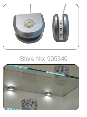 LED cabinet light decorating for glass layer of kitchens,living room,bedroom cabinet,3emitting side led module to clip 8mm glass
