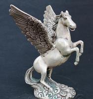 Античный старых медных статуя/скульптура Летающий конь, изделия ручной работы, лучшая коллекция и украшения, бесплатная доставка