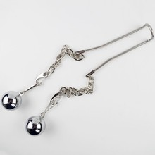Steel Ball Stretcher with Chains 2pcs 8OZ BALL WEIGHTS Sex Toys for Adult CBT Sex Games Add Weight