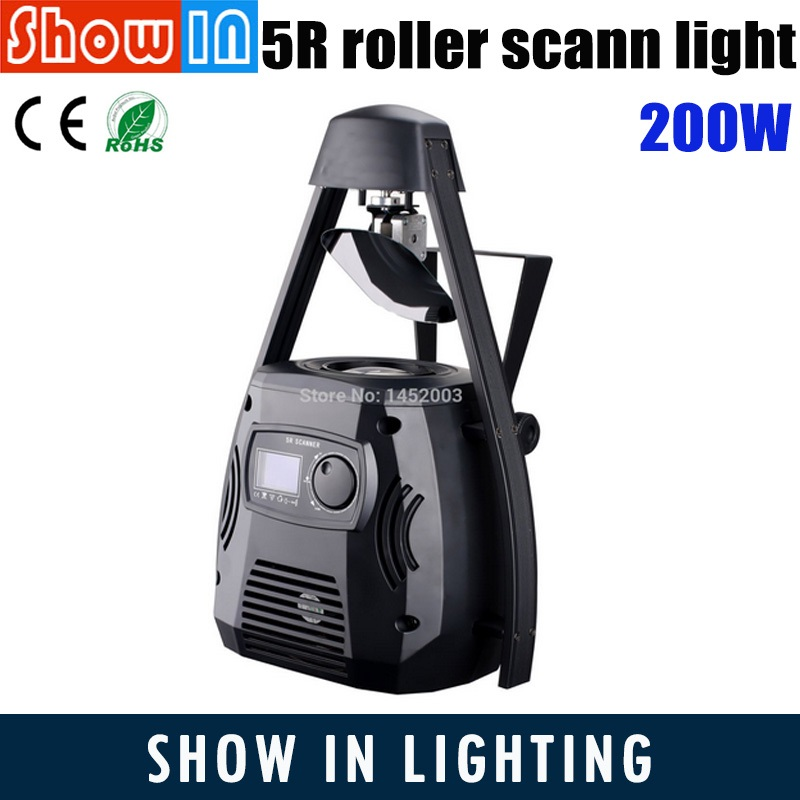 200W 5R LED Roller Scanner Beam Light Yodan Lamp DMX Luces DJ Disco Party Wedding Stage Projector