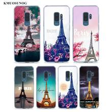 Transparent Soft Silicone Phone Cases Love Paris Eiffel tower For Samsung Galaxy S9 S8 Plus S7 S6 S5 Edge Note 9 8