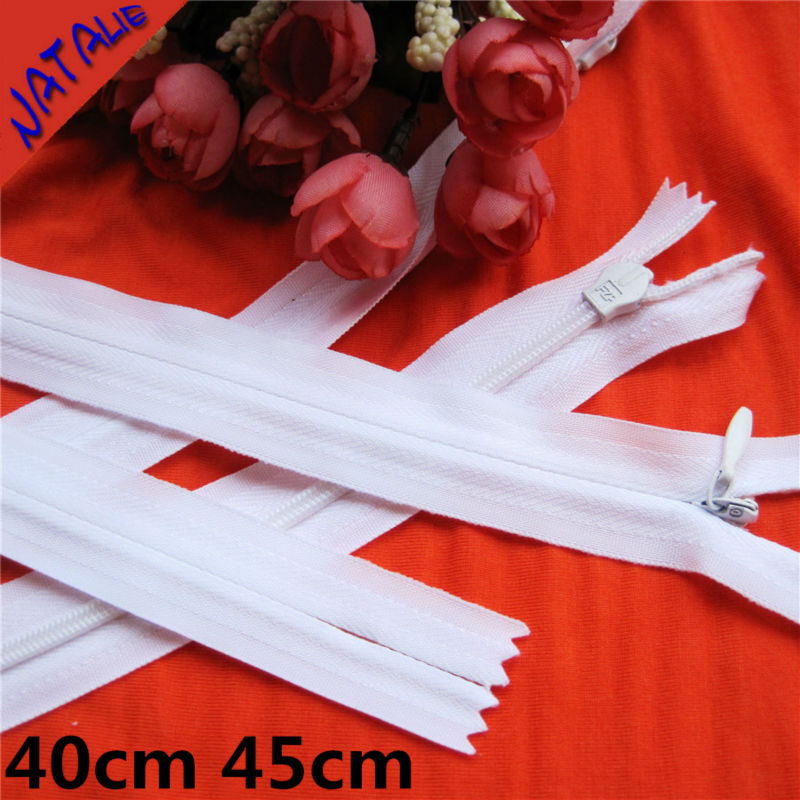 10pcs 40cm 45cm invisible zippers for sewing Manufacturers Direct Sales Knitting Side white and black Garment accessories DIY
