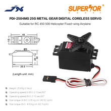 PDI 2504MG JX 25g coreless mini servo 0.1 sec high speed Metal Gear digital for 450 500 helicopter Airplane Remo Hobby Smax