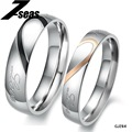 1 Piece Price Romantic Stainless Steel Couple Wedding Engagement Ring Half Heart Puzzle Men Jewelry His & Her Promise Rings ,284