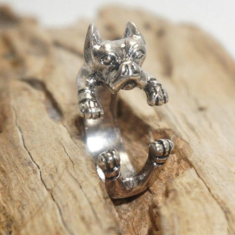 Падение доставка Америка в стиле ретро панк питбультерьер кольцо ручной работы животных кольца ювелирные изделия для любителей животных в...