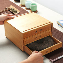 Bamboo Pu'er Tea Boxes Pu'er Separator Cut Tea Tray Kung Fu Tea Set Ceremony Accessories Healthy Food Storage Drawer(China)