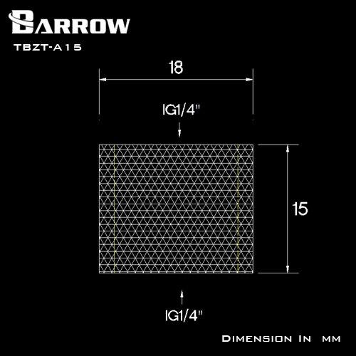 Купить с кэшбэком BARROW G1/4 Female to Female Connectors / Extender 15mm F to F Dual Female Fitting Accessories Metal Fittings