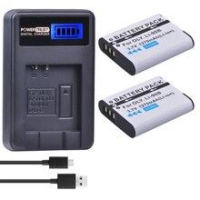 2 упак. LI-90B li 90b LI90B li-92b Батареи для камеры + ЖК-дисплей USB Зарядное устройство для Olympus Tough TG-1 IHS tg-2 IHS tg-3 tg-4 SH50 IHS sh60