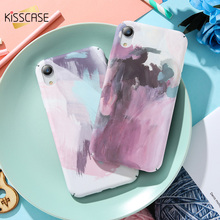 KISSCASE Cute Patterned Case For iPhone 7 8 6s 6 Plus Hard Plastic Cases For iPhone X Xr Xs Max 5s 5 SE Matte Back Cover Fundas protective 3d celestial bodies patterned plastic back case cover for iphone 6 blue black