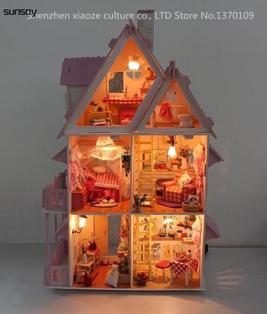 Shipping Furniture Model Interesting Aliexpress  Buy Diy Model Sunshine Alice Doll House Free . Inspiration