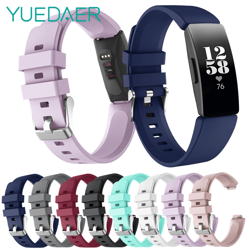 YUEDAER Strap For Fitbit inspire Band For Fitbit inspire HR Straps Silicon Soft TPU Bracelet For Fit Bit inspire Accessories-in Smart Accessories from Consumer Electronics
