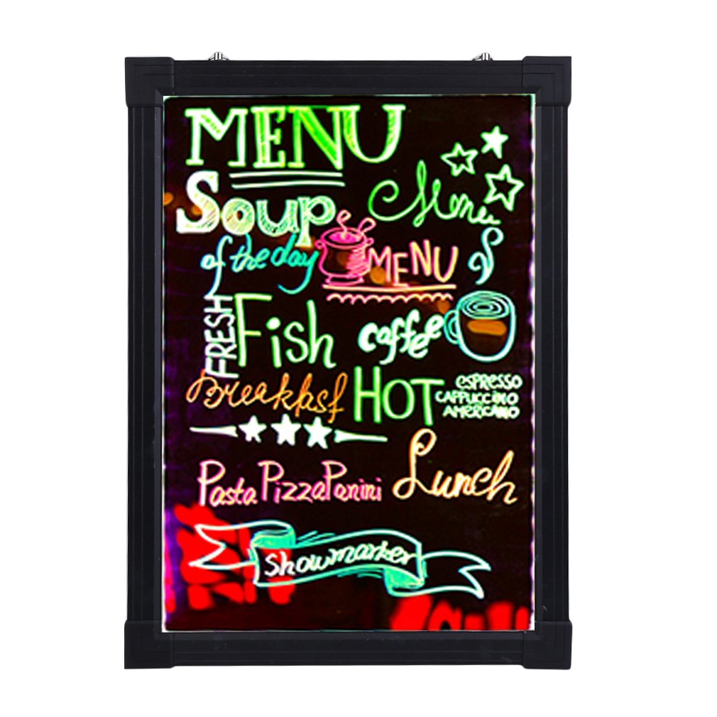 16X24 pouces facile à écrire sur clignotant luminé panneau Fluorescent ensemble café café Menu style néon LED panneau de décoration