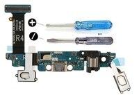 Para samsung s6 g920r4  g920t  g920a  g920i  g920p  g920v  g920f doca conector usb porto de carregamento flexcable microfone 2 x screwdriv