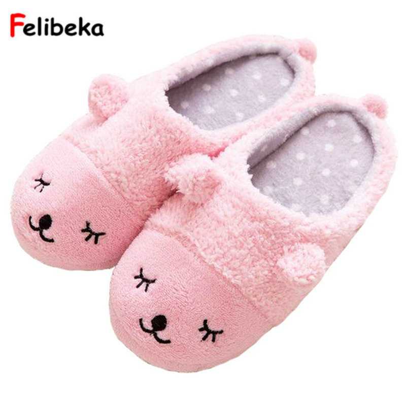 Spring/Winter Couples Home Animal Slippers Women Indoor Floor Sherpa Soft Bottom Squinting Sheep Slip Furry Slippers For Men millffy plush slippers squinting little sheep indoor household slippers lambs wool home couple slippers