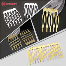30PCS 5 tooth 6 tooth Iron tooth Hair Combs Hair Jewelry Findings Diy Handmade Findings Jewelry Accessories Wholesale