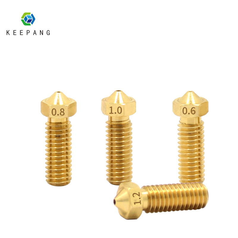 Volcano nozzle 3D printer All metal brass 3D Lengthen extruder nozzle 0.6-0.8-1.0-1.2mm For 1.75-3.0