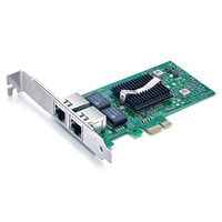 Dual RJ45 Copper Ports PCI Express 2 0 X1 1G Gigabit Ethernet Converged Network Adapter NIC