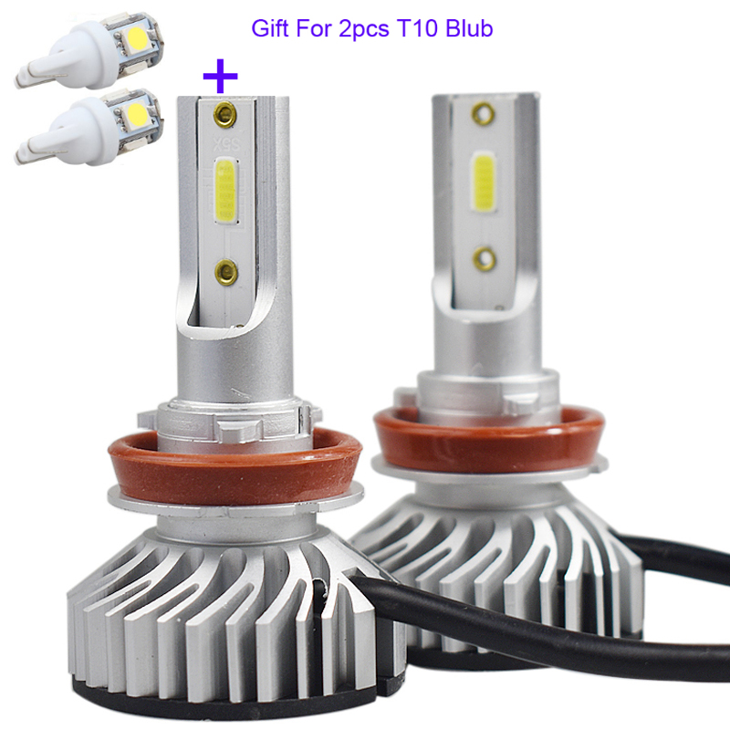 Super Mini Size 12V H1 <font><b>Led</b></font> H7 <font><b>H4</b></font> H11 H8 Car Headlight Bulbs <font><b>10000LM</b></font> Auto 9005 HB3 9006 HB4 Chip Automobiles Headlamp+gift blub image