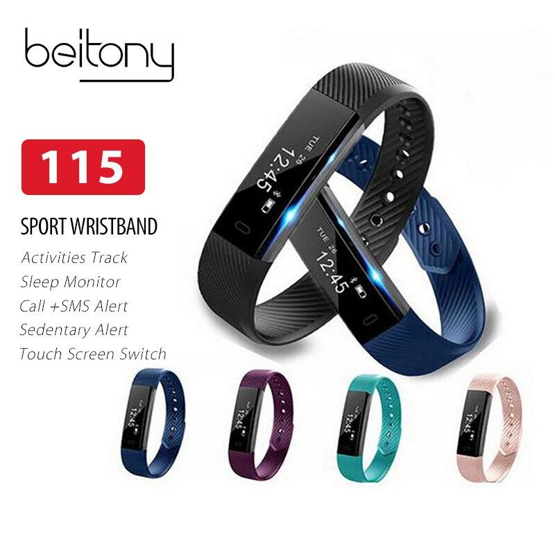 Beitony Vigilanza di Forma Fisica Pedometro Fitness Braccialetto Passometer Braccialetto Intelligente 115 Smartwatch Hembeer Passo Contatore