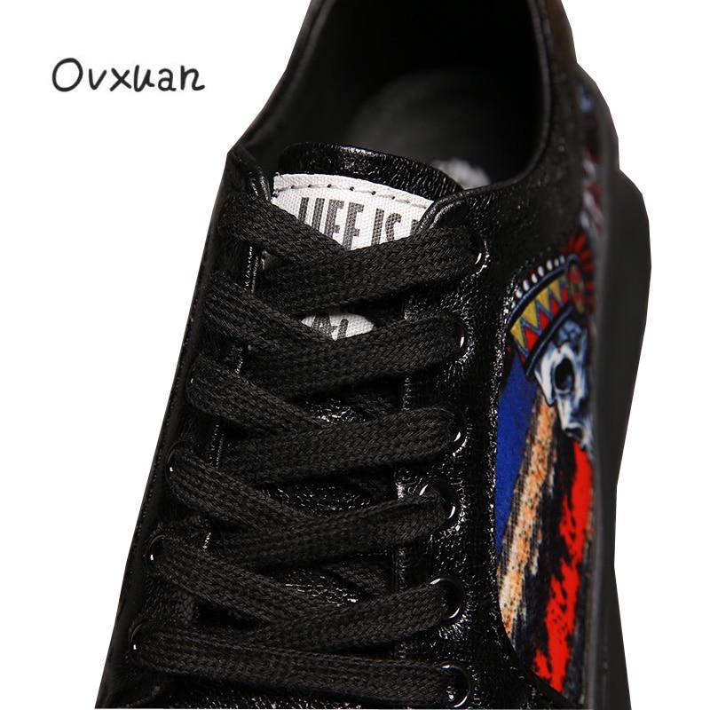 Marca de lujo Punk Skull Metal remache Top hombres Zapatillas Zapatos Casual plataforma Zapatillas moda graduación vestido mocasines Sapato Masculino-in Mocasines from zapatos    3