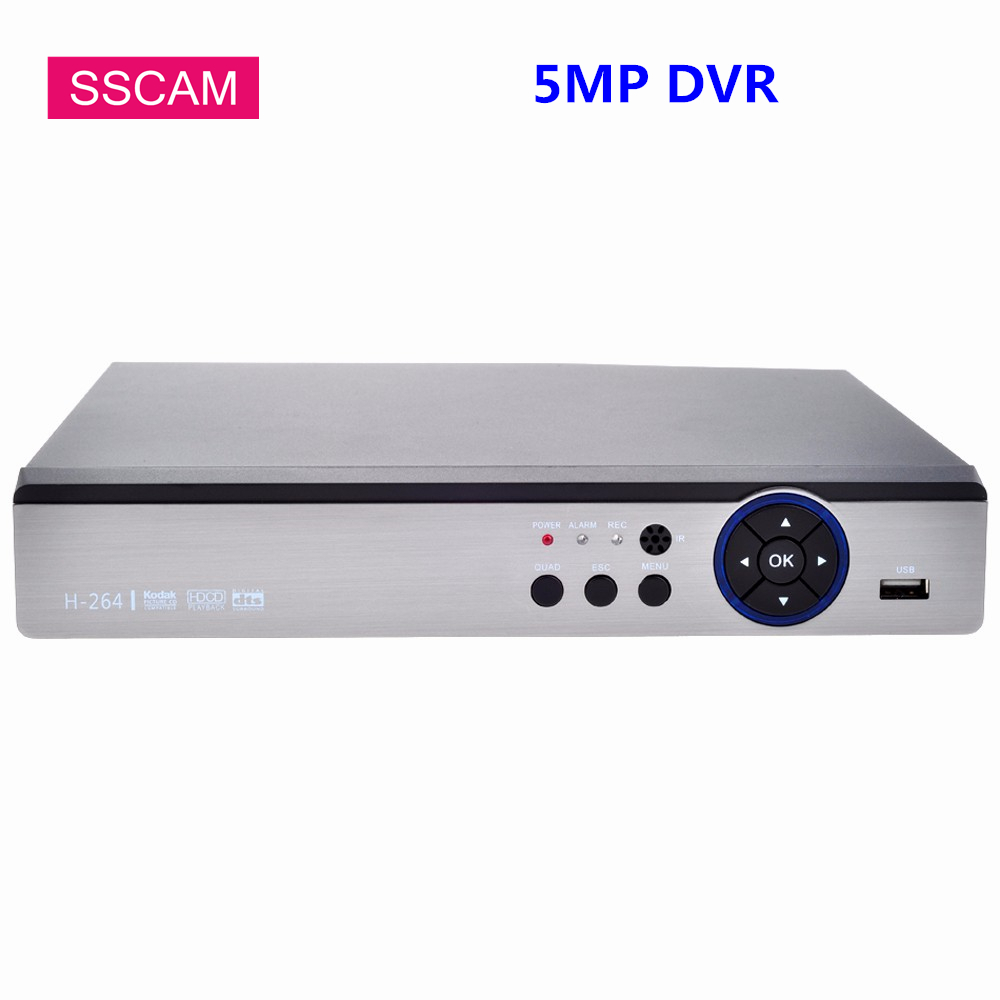 4Channel 8Channel 5MP AHD DVR Hybrid 5.0 Megapixel Digital Video Recorder NVR for 2MP/4MP/5MP AHD TVI CVI Analog IP Camera PTZ
