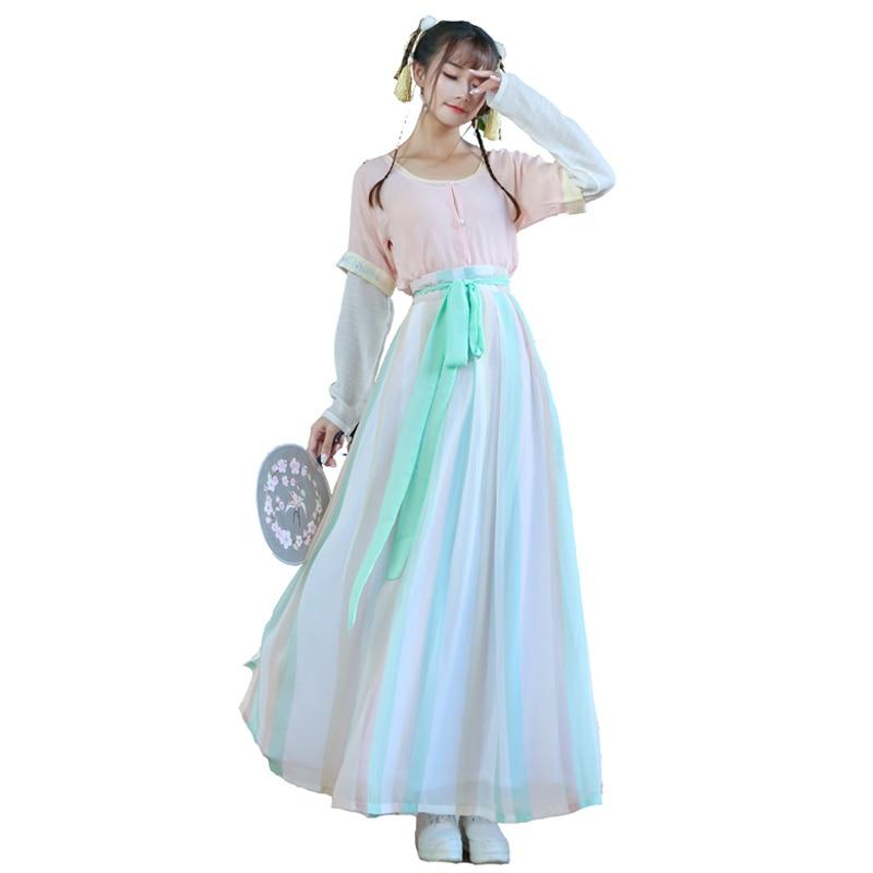 2018 summer hanfu ladies song fringing costume clothing hanfu female fairy costume outfit modified hanfu ethnic costumes wind