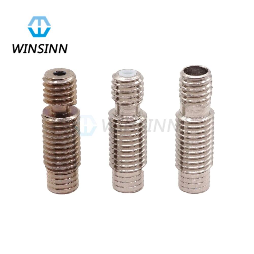 Winsinn V6 Rupture Thermique Hotend Gorge M7 Fil Pour E3D Téflon Optimisé finition Titane alliage 1.75 3mm Filament alimentation