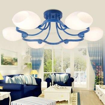 Лампа-цветение Средиземноморский половина lampEuropean стиль потолочный гостиная освещения гостиной лампы современные минималистские светодио...