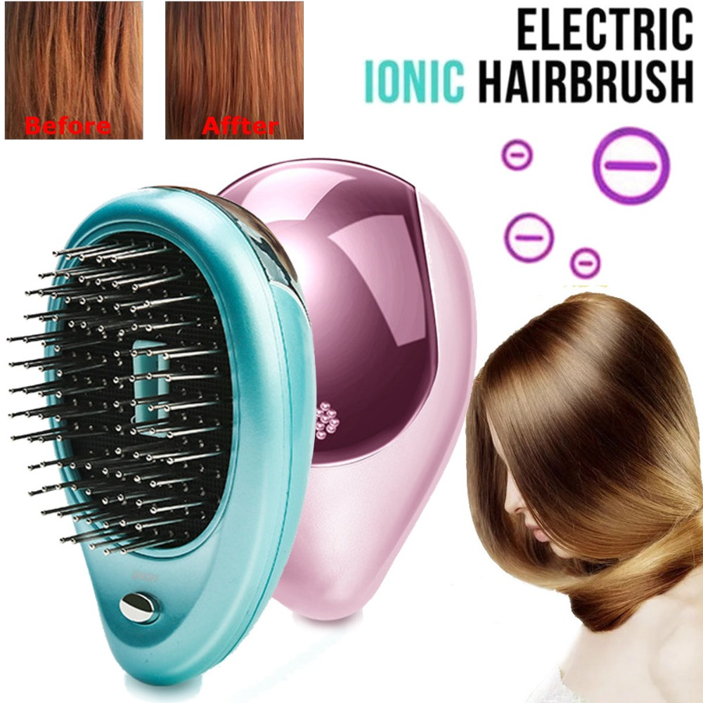 Electric Vibration Wireless Anti Hair Loss Magnetic Massage Comb Portable Ion Hair Growth Comb Hair Brush Relaxation Health Care negative ions vibration anion hair massager comb anti hair loss massage brush dry battery head relaxtion hair comb brush tool