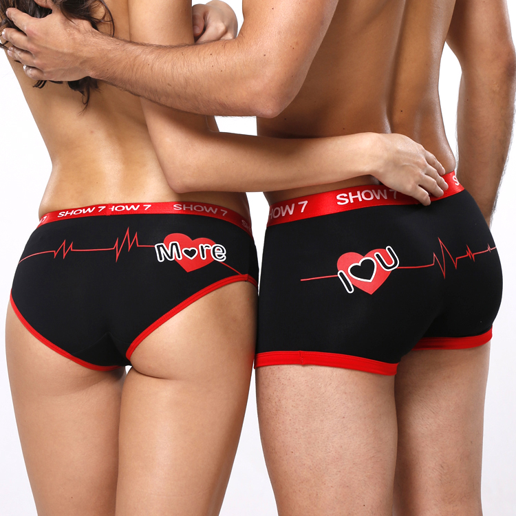 2017 New High Quality Couples Bamboo Fiber Underwear Lovers Comfortable Underpants Tamptation Sexy Panties Men Women Boxers