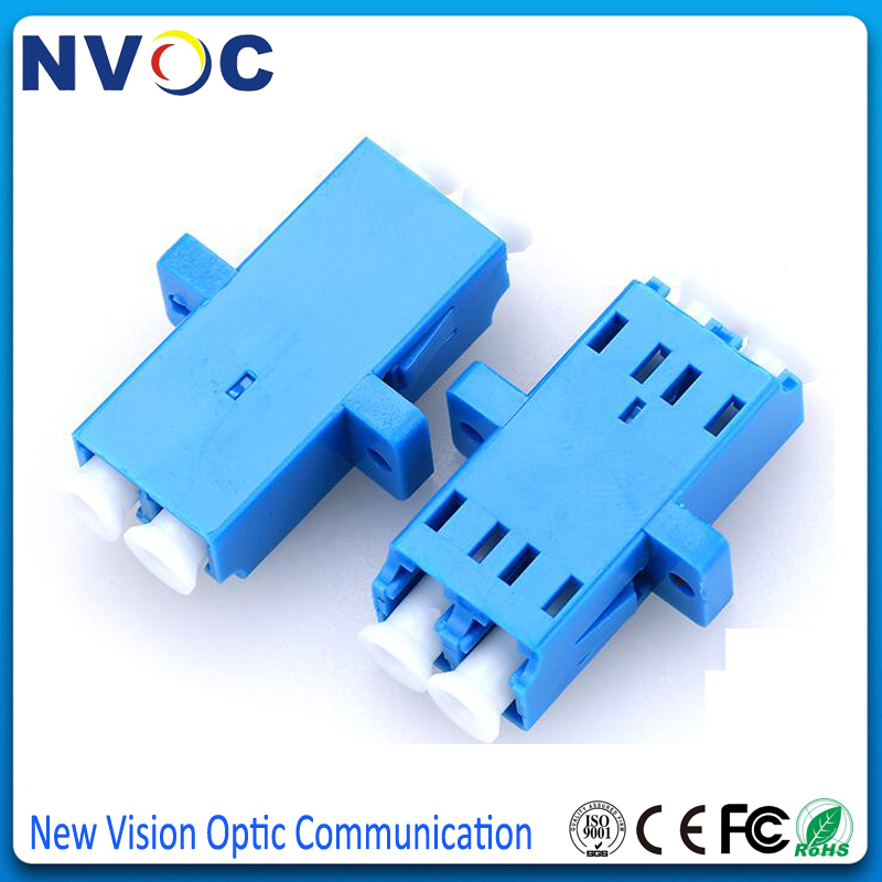 10 pcs LC to LC Singlemode Simplex Coupler Optical Fiber Adapter Connector LC-LC