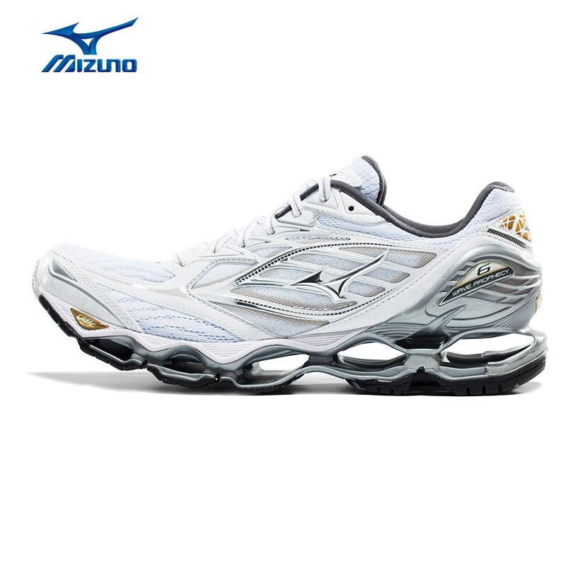 MIZUNO Men WAVE PROPHECY 6 Professional Jogging Running Shoes Cushion Breathable Sports Shoes Sneakers J1GC170003 XYP583 mizuno 4 3 2 38 5 43 5 mizuno wave prophecy 4